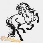 """однониточный дизайн для вышивания """"конь"""" интернет-магазин дизайнов машинной вышивки Ната Белошвейка"""