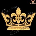 Корона 11 дизайн машинной вышивки на халатах
