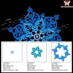 """""""снежинка"""" дизайн компьютерной вышивки интернет-магазин дизайнов машинной вышивки Ната Белошвейка"""
