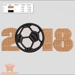 """""""футбол 2018"""" программа для вышивальных машин интернет-магазин дизайнов машинной вышивки Ната Белошвейка"""