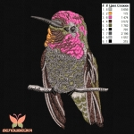 """""""птичка"""" художественная гладь, машинная вышивка интернет-магазин дизайнов машинной вышивки Ната Белошвейка"""