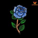 """""""Роза"""" дизайн машинной вышивки"""