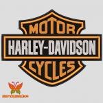 Harley-Davidson логотип, дизайн машинной вышивки