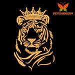 Тигрица в короне - вышивка на халатах