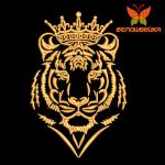 Тигр в короне - дизайн машинной вышивки