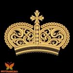 Корона без обрезок, дизайн машинной вышивки