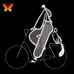 Дизайн машинной вышивки Девушка на велосипеде