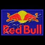 Нашивка Red Bull дизайн машинной вышивки