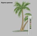 Пальмы - дизайн машинной вышивки
