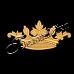 Корона 25 дизайн машинной вышивки на халатах