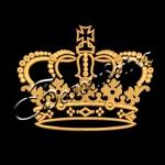 Корона 30 дизайн машинной вышивки на халатах