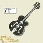 """""""гитара"""" дизайн машинной вышивки интернет-магазин дизайнов машинной вышивки Ната Белошвейка"""