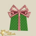 """Дизайн машинной вышивки """"Подарок"""""""