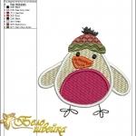"""""""зимний снегирь"""" дизайн машинной вышивки интернет-магазин дизайнов машинной вышивки Ната Белошвейка"""
