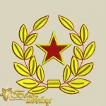 """""""Звезда и венок"""" дизайн для вышивания"""