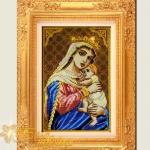 Образ Пр.Богородицы Единая надежда дизайн машинной вышивки