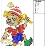 """дизайн компьютерной вышивки """"буратино"""" интернет-магазин дизайнов машинной вышивки Ната Белошвейка"""