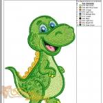 """дизайн машинной вышивки """"динозаврик"""" интернет-магазин дизайнов машинной вышивки Ната Белошвейка"""