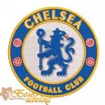 """Логотип """"Челси"""" дизайн машинной вышивки"""