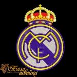 Логотип Real Madrid (Реал Мадрид) машинная вышивка
