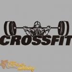 """Дизайн машинной вышивки """"CrossFit"""""""