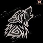 """""""Волк"""" дизайн машинной вышивки"""