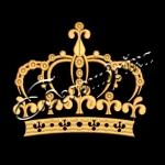Корона 09 дизайн машинной вышивки на халатах